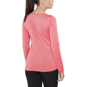 The North Face Dayspring LS Tee Damen cayenne red/tropical peach stripe